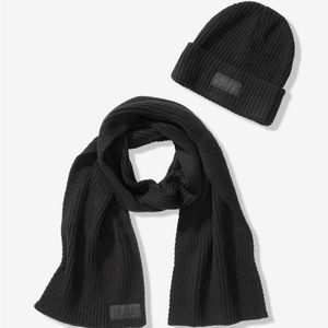 VS Pink Beanie and Scarf